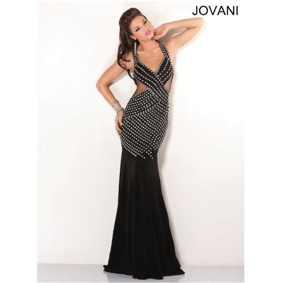 20ca5a711dc Jovani Dresses   Skirts - JOVANI 💣 Bombshell Black Studded Prom Dress!
